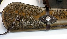 Oak Leaf Carved Rifle Scabboard.JPG