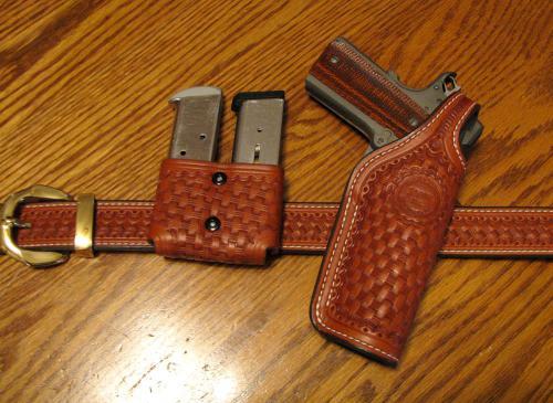 1911 Custom Holster, belt, mag pouch