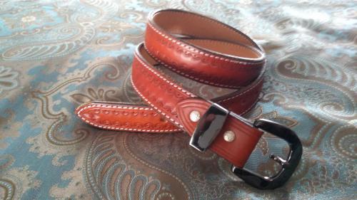 Custom Chestnut Gun Belt