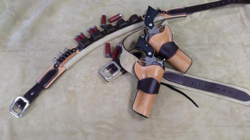 Duke Style Two Gun Rig & ShotShell Belt