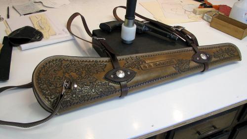 Oak Leaf Rifle Scabboard