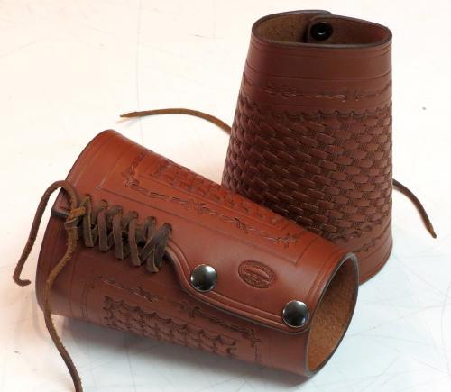 leather cuffs brown