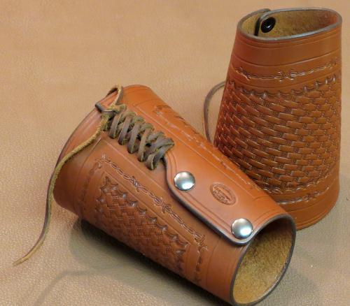 leather cuffs tan